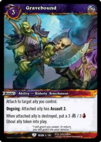warcraft tcg reign of fire gravebound