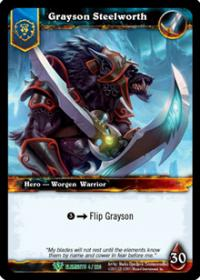 warcraft tcg foil hero cards grayson steelworth foil hero