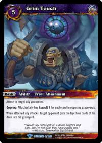 warcraft tcg betrayal of the guardian grim touch
