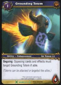 warcraft tcg archives grounding totem foil