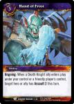 warcraft tcg dungeon deck treasure hand of frost