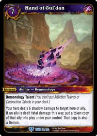 warcraft tcg tomb of the forgotten hand of gul dan