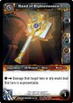 warcraft tcg dungeon deck treasure hand of righteousness