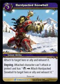 warcraft tcg feast of winter veil hardpacked snowball