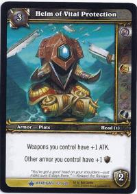 warcraft tcg wrathgate helm of vital protection