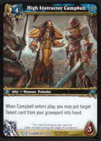 warcraft tcg the hunt for illidan high instructor campbell