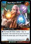 warcraft tcg foil hero cards high magus olvek