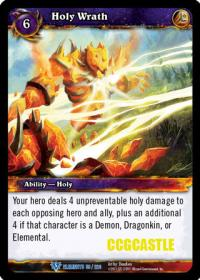warcraft tcg war of the elements holy wrath