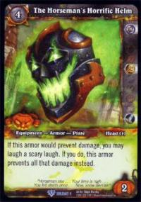 warcraft tcg foil and promo cards the horseman s horrific helm