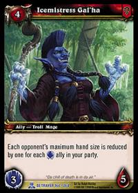 warcraft tcg servants of betrayer icemistress gal ha