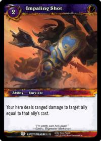 warcraft tcg battle of aspects impaling shot
