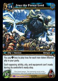 warcraft tcg the dark portal ivus the forest lord