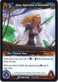 warcraft tcg reign of fire jaina apprentice of antonidas