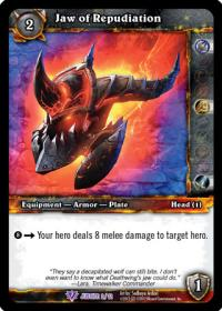 warcraft tcg crafted cards jaw of repudiation