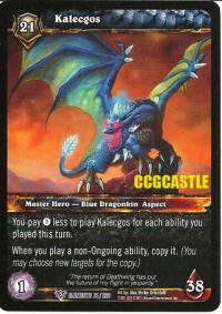 warcraft tcg war of the elements kalecgos