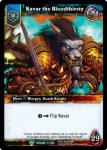 warcraft tcg foil hero cards kavar the bloodthirsty