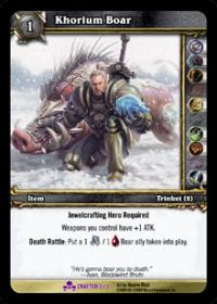 warcraft tcg crafted cards khorium boar