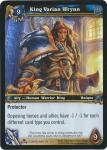 warcraft tcg foil and promo cards king varian wrynn foil
