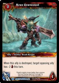 warcraft tcg battle of aspects krax gravesteel