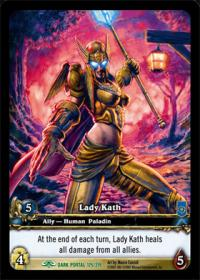 warcraft tcg extended art lady kath ea
