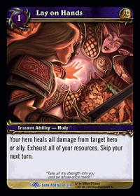 warcraft tcg the dark portal lay on hands