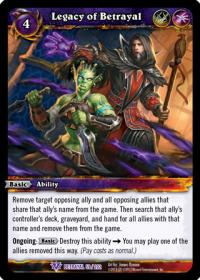 warcraft tcg betrayal of the guardian legacy of betrayal