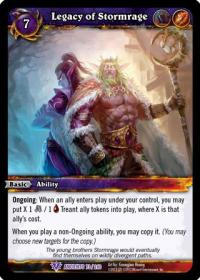 warcraft tcg war of the ancients legacy of stormrage