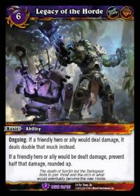 warcraft tcg reign of fire legacy of the horde