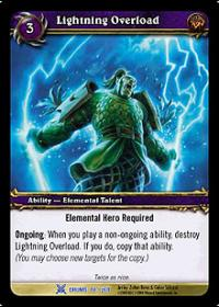 warcraft tcg drums of war lightning overload