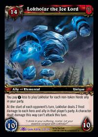 warcraft tcg the dark portal lokholar the ice lord