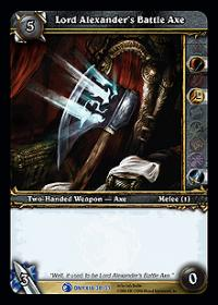 warcraft tcg onyxias lair lord alexander s battle axe
