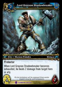 warcraft tcg heroes of azeroth lord grayson shadowbreaker