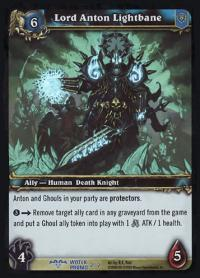 warcraft tcg foil and promo cards lord anton lightbane