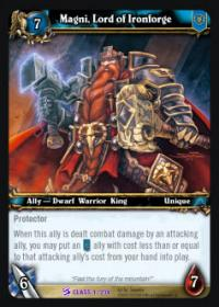 warcraft tcg class decks 2010 magni lord of ironforge