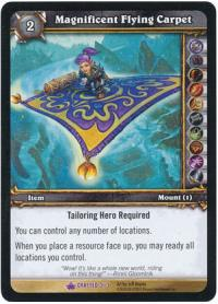 warcraft tcg crafted cards magnificent flying carpet