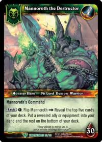 warcraft tcg foil hero cards mannoroth the destructor foil hero