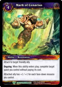 warcraft tcg battle of aspects mark of cenarius