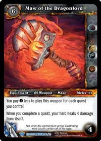 warcraft tcg battle of aspects maw of the dragonlord