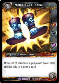 warcraft tcg crafted cards melodious slippers