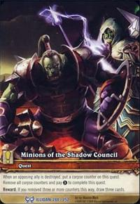 warcraft tcg extended art minions of the shadow council ea