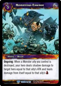 warcraft tcg throne of the tides monstrous essence