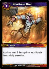 warcraft tcg tomb of the forgotten monstrous heal
