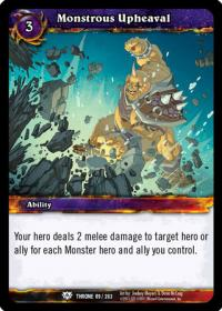 warcraft tcg throne of the tides monstrous upheaval