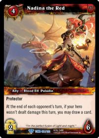 warcraft tcg tomb of the forgotten nadina the red