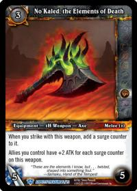 warcraft tcg battle of aspects no kaled the elements of death