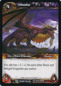 warcraft tcg twilight of the dragons obsidia