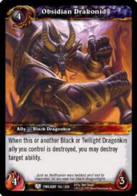 warcraft tcg foil and promo cards obsidian drakonid foil