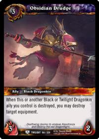 warcraft tcg twilight of the dragons obsidian drudge