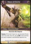 warcraft tcg fields of honor omen of clarity