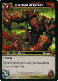 warcraft tcg the hunt for illidan overlord or barokh